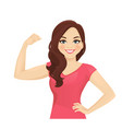 strong woman vector image