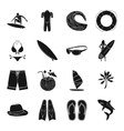 Surfing set icons in black style Big collection vector image vector image