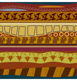 Tribal pattern seamless texture vector image vector image