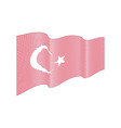 turkey flag on white background wave strip vector image