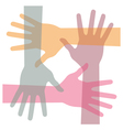 united hands vector image vector image