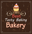 advertising bakeries and cake vector image