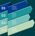 Infographic with numbered ribbon pointers vector image