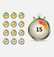 timers countdown vector image