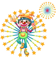 A firework display with a clown vector image vector image