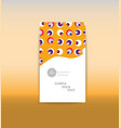 a4 minimal color design annual report brochure vector image