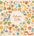 abstract autumn sales template vector image vector image