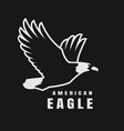 american eagle flying bird logo simbol on a dark vector image vector image