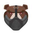 angry bear in protective mask aggressive grizzly vector image vector image