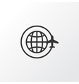 around globe icon symbol premium quality isolated vector image