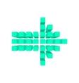 Arrow made of squares cartoon vector image