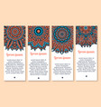banners set of paisley or mandala pattern vector image vector image