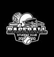 baseball badge logo emblem template student club vector image vector image