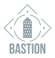 bastion logo simple gray style vector image vector image