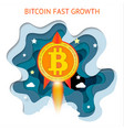 bitcoin is fast growing cryptocurrency financial vector image vector image