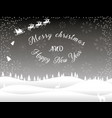 black white christmas card winter forest vector image vector image