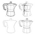 Coffee Percolator clip art hand drawn vector image