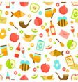 colorful pattern for rosh hashanah vector image vector image