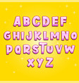 cute kids alphabet pink vector image