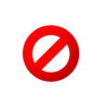 danger red crossed circle vector image