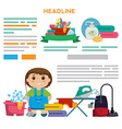 Design template for print products - cleaning vector image vector image