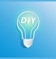 diy in light bulb shape vector image