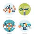 Flat background Web service vector image vector image
