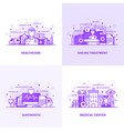 flat line purple designed concepts 9 vector image