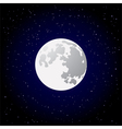 full moon vector image vector image