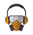gas mask with protection goggles and isolation vector image vector image