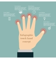 Hand touch infographic concept vector image vector image
