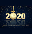 happy new year and merry christmas poster vector image vector image