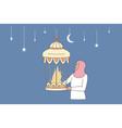 happy ramadan mubarak celebration concept vector image
