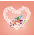 hearts lace 6 380 vector image vector image