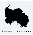 High detailed map of South Ossetia with navigation vector image vector image
