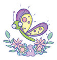 isolated butterfly draw cartoon design vector image vector image