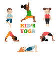 kids doing yoga kids doing yoga vector image vector image