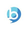 letter b balloon logo icon vector image vector image