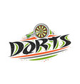 logo for darts vector image vector image
