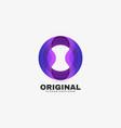 logo original gradient colorful style vector image vector image