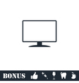 Monitor icon flat vector image vector image