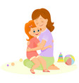 mother and daughter embrace vector image vector image