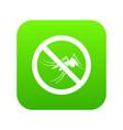 no mosquito sign icon digital green vector image vector image
