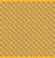 orange abstract sameless pattern vector image vector image