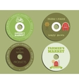 Organic farm CD DVD templates sign icon vector image vector image