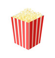 paper bag full popcorn vector image