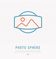 photo sphere thin line icon panorama 360 degrees vector image