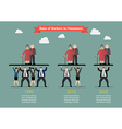 Ratio of Workers to Pensioners infographic vector image vector image