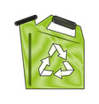 recycle water can vector image vector image