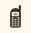 retro vintage mobile phone icon vector image